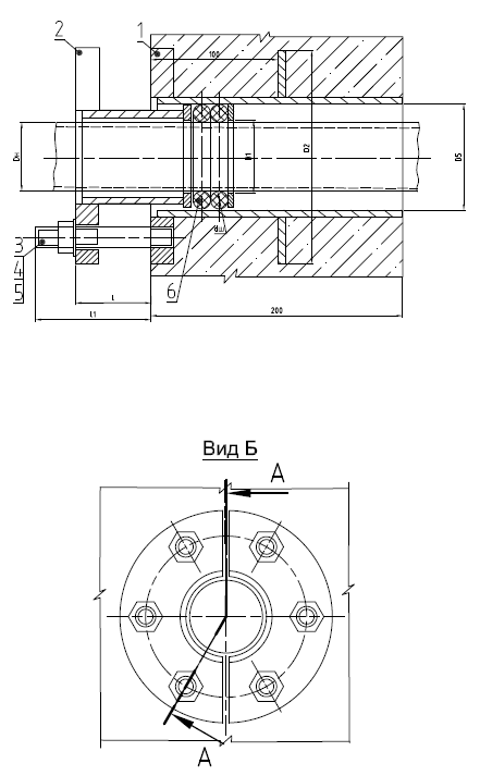 Схема сальника нажимного