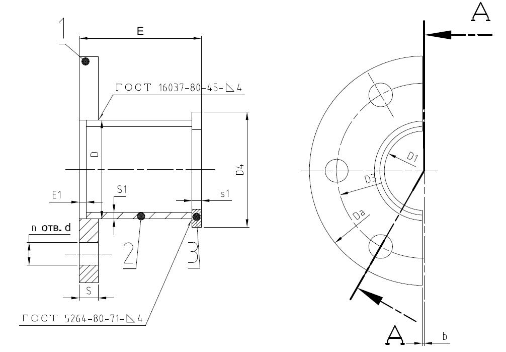 фрагмент чертежа сальника нажимного
