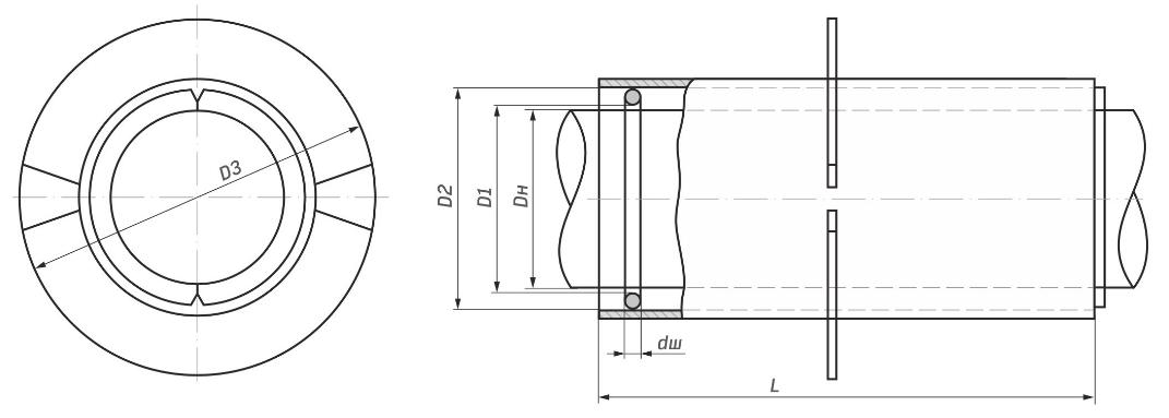 схема набивного сальника серия 5.905-26.08